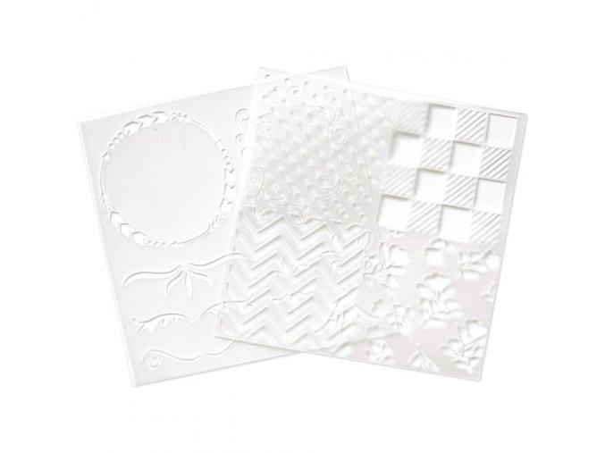 Plastové šablony pro pero na aplikace folie FOIL QUILL / VZORY