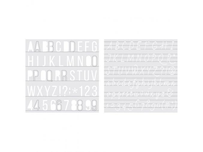 Plastové šablony pro pero na aplikace folie FOIL QUILL / ALPHABET