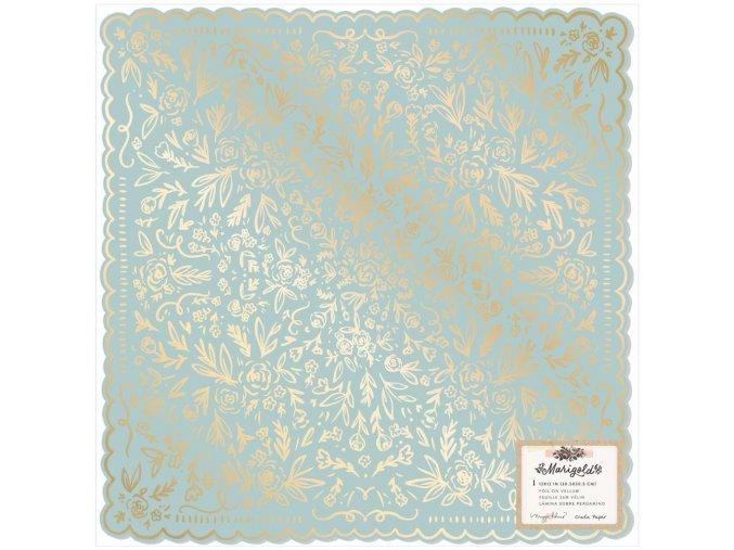 Scrapbookový papír se zlatou folií - MARIGOLD / So Sweet