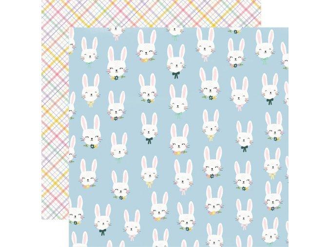 Papír na scrapbook - BUNNIES & BLOOMS / Bunny Love