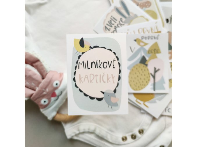 Milníkové kartičky pro miminko Papero amo do fotoalba 1