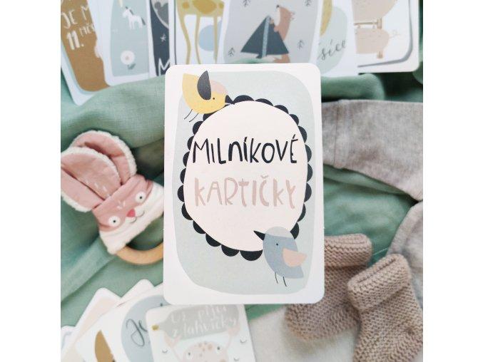 Milníkové kartičky pro miminko na focení s kutalými rožky Papero amo 1