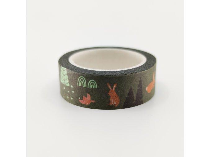 Washi páska - Z LESA / Zvířátka