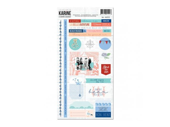 a contre courant stickers 15x30