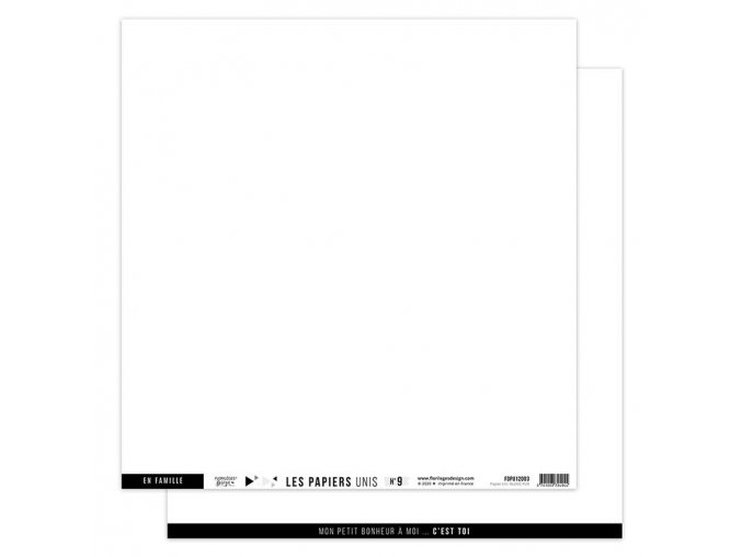 papier uni n9 blanc pur