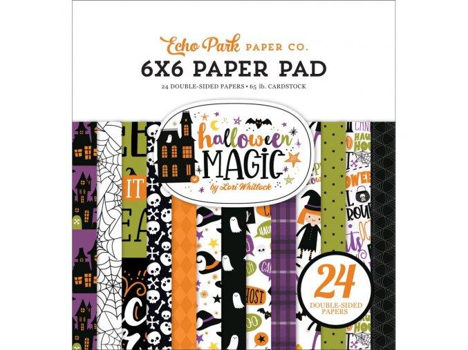 """Sada scrapbookových papírů 6""""x6"""" - HALLOWEEN MAGIC"""