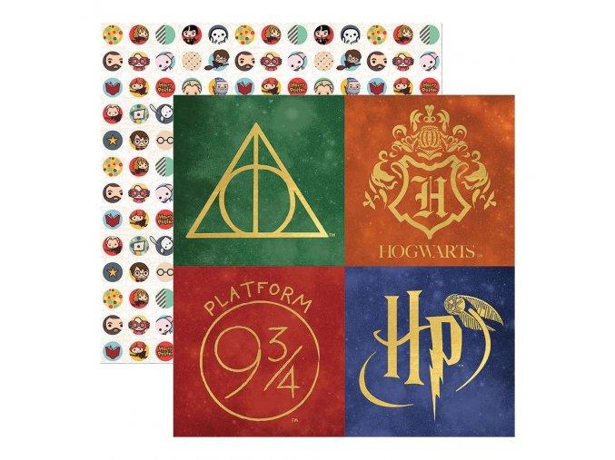 Scrapbookový papír - HARRY POTTER / Harry Potter