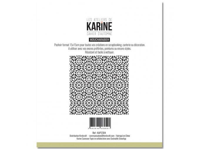 pochoir 15x15 les ateliers de karine cahier d automne moucharabieh