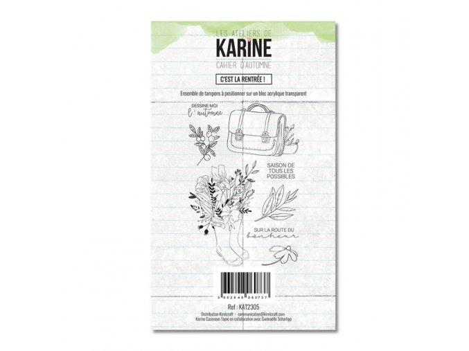 tampon transparent les ateliers de karine cahier d automne c est la rentree