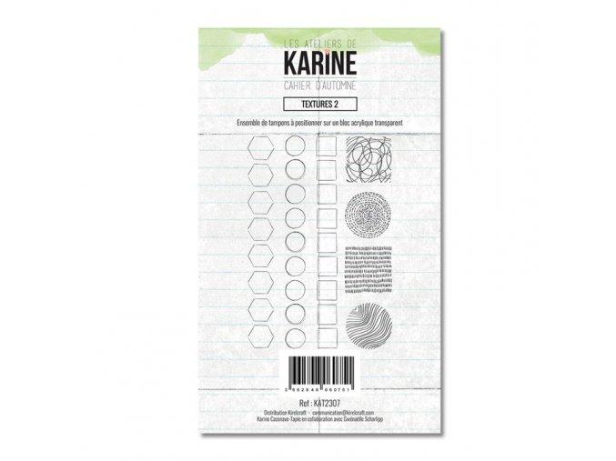 tampon transparent les ateliers de karine cahier d automne textures 2