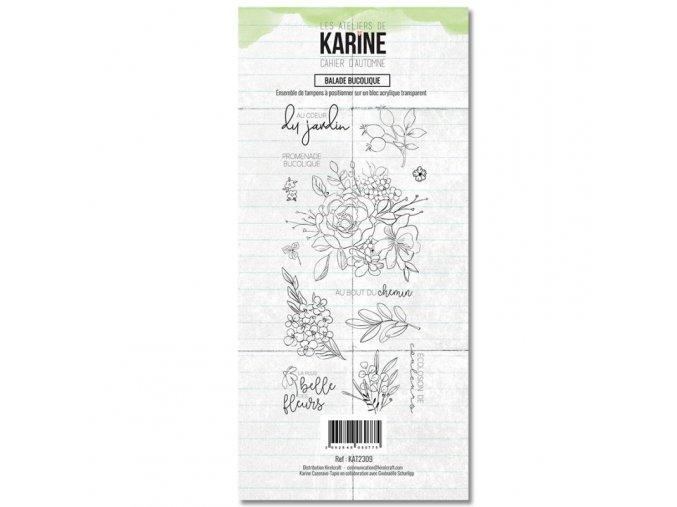 tampon transparent les ateliers de karine cahier d automne balade bucolique