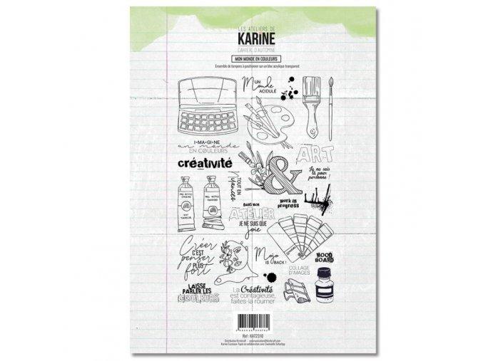 tampon transparent les ateliers de karine cahier d automne mon monde en couleurs