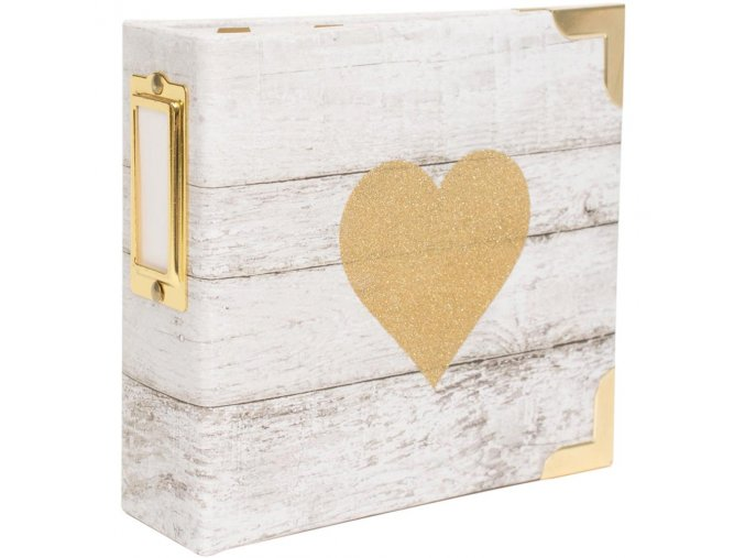 "HEIDI SWAPP - Project Life Ring Album 4""X4"" - GLITTER HEART"