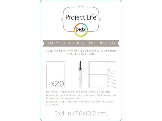 "BECKY HIGGINS - Project Life Photo Fuse Sleeves - 3""X4"""