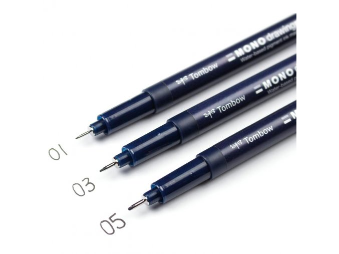 TOMBOW - MONO Drawing Pens - 0.1 + 0.3 + 0.5