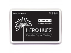 HERO ARTS - Hero Hues Dye Ink Pad - INDIA INK BLACK