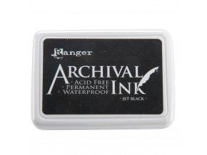 Razítkovací barva RANGER / Archival - JET BLACK