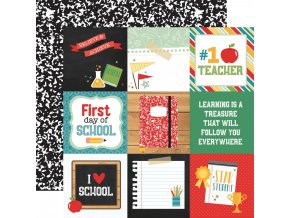 "ECHO PARK PAPER - Back to school - 4"" x 4"" JOURNALING CARDS"