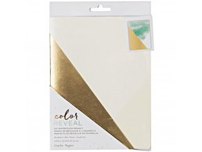 "CRATE PAPER - Color Reveal Watercolor Notebook 6""X8"" - DIAGONALS"