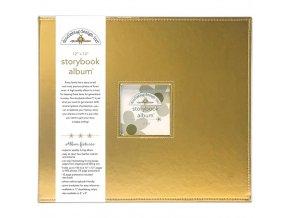 "SCRAPBOOKOVÉ ALBUM 12""X12"" - GOLD METALLIC / DOODLEBUG"