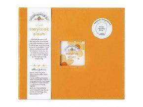 "DOODLEBUG - Storybook Album 12""X12"" - TANGERINE"