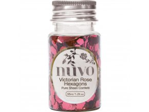 NUVO - Confetti - VICTORIAN ROSE HEXAGONS