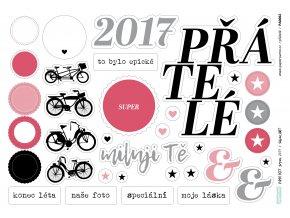 PAPERO AMO - papírové výseky - PAGE KIT Srpen 2017 / PŘÁTELÉ