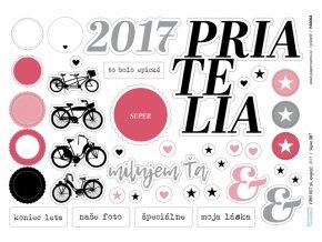 PAPERO AMO - papírové výseky - PAGE KIT August 2017 / PRIATELIA