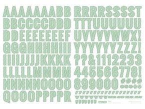 Samolepící abeceda VELKÁ - ŠKOLA / zelená