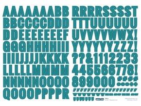 PAPERO AMO - samolepící abeceda - ŠKOLA / modrá