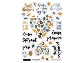 PAPERO AMO - samolepky - MY LIFE KIT listopad / prosinec 2017 TEPLO DOMOVA