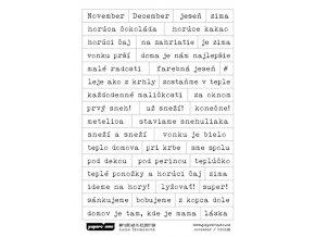 PAPERO AMO - samolepky - MY LIFE KIT November / December 2017 NOVEMBER