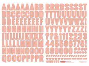 PAPERO AMO - samolepící abeceda - PAGE KIT Prosinec 2017 / ABECEDA červená