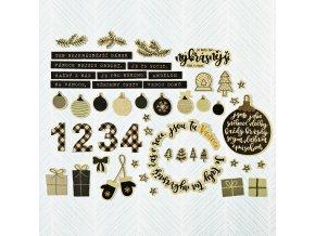 PAPERO AMO - zlaté výseky - VÁNOCE / nejkrásnější dárek