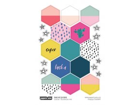Samolepky - 365 DNÍ / Hexagony