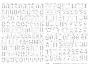 Samolepící abeceda VELKÁ - Predige SVĚTLÁ