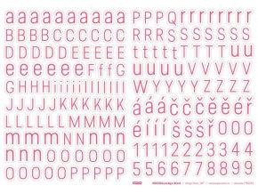 PAPERO AMO - samolepící abeceda - Predige RŮŽOVÁ
