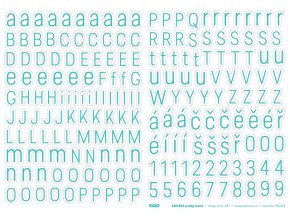 Samolepící abeceda VELKÁ - Predige MODRÁ