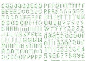 PAPERO AMO - samolepící abeceda - Predige ZELENÁ