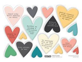 Papírové výseky - VÍKEND / Srdce