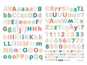 PAPERO AMO - samolepící abeceda - EXTRA KIT Duben 2018