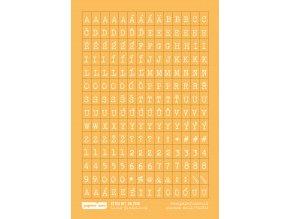 Samolepící abeceda MALÁ - VÍKEND