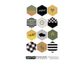PAPERO AMO - epoxy ozdoby - MY LIFE KIT Květen / Červen 2018: TVARY
