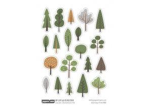 Samolepky - DOBRODRUŽSTVÍ / Lesní stromy