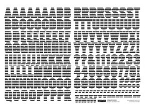 Samolepící abeceda VELKÁ - DOBRODRUŽSTVÍ / Černobílá