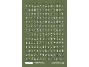 Samolepící abeceda MALÁ - DOBRODRUŽSTVÍ