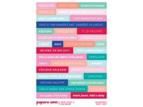 PAPERO AMO - samolepky - CARD KIT Červen 2018 / MILUJI TĚ
