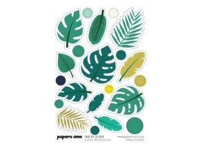 PAPERO AMO - samolepky - PAGE KIT Červenec 2018 / LISTY