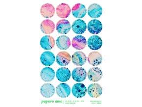 PAPERO AMO - epoxy ozdoby - MY LIFE KIT Červenec / Srpen 2018 BAREVNÁ PĚNA