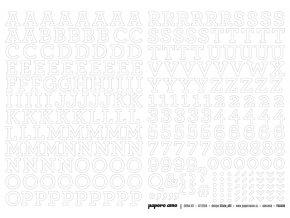 PAPERO AMO - samolepící abeceda - EXTRA KIT Červenec 2018